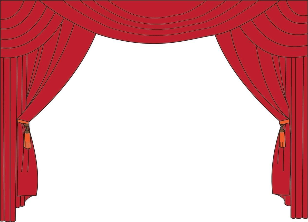 Lights clipart cinema Size Clip Curtains:clipartfestcom Clipart Curtains