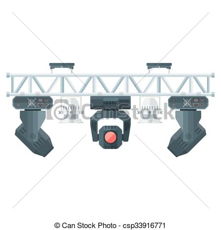 Lights clipart concert light Style equipment concert truss Illustration