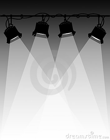 Lights clipart concert light Clipart Stage Concert stage silhouettes