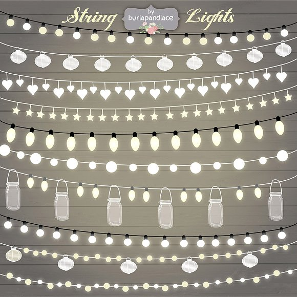 Lights clipart creative On Creative Market String Clipart