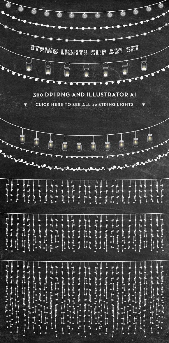 ~ Lights Set Market String