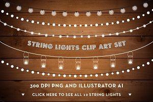 Lights String Lights on Clipart