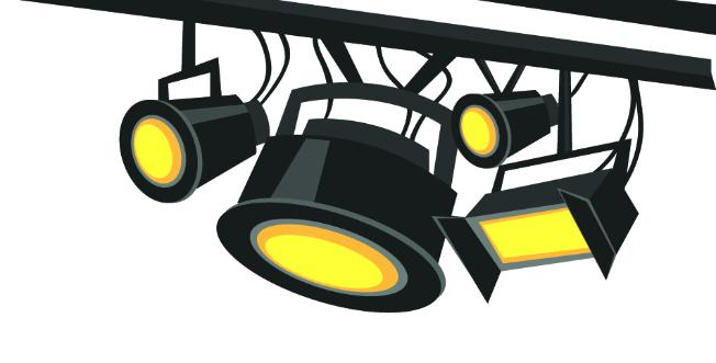Lights clipart stage lighting #7