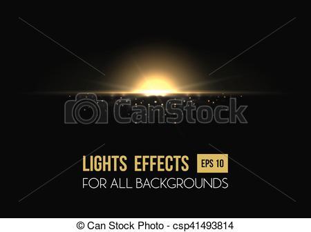 Csp41493814 light Sunrise sun Vector