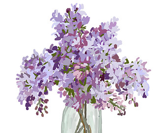 Lilac clipart #13