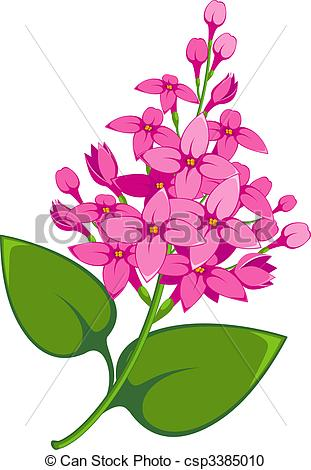 Lilac clipart Lilac Lilac  EPS Vector
