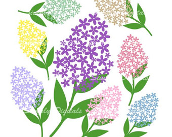 Lilac clipart Clipart Lilacs Lilac Flower Wedding