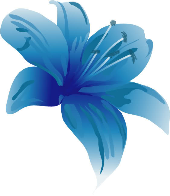 Lily clipart 2 Blue clipart lily images