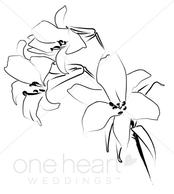 Simple clipart lily #1