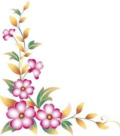 Yellow Flower clipart floral corner And Corner more and this