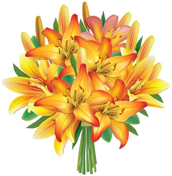 Yellow Flower clipart beautiful flower PNG on Clipart Flowers Bouquet