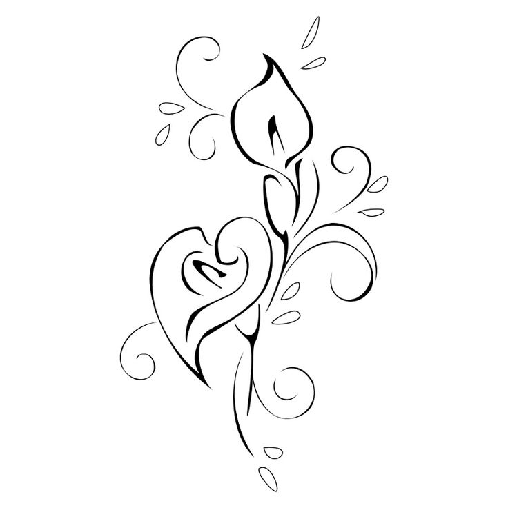Simple clipart lily #4