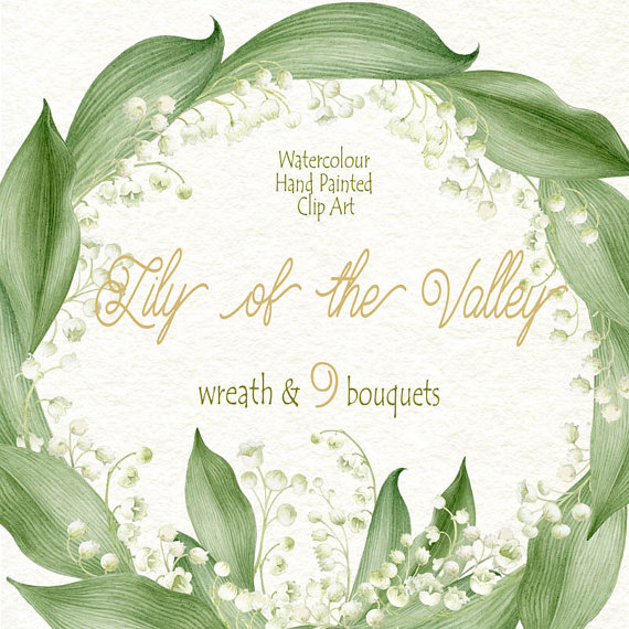 Lily Of The Valley clipart watercolor Valley WatercolorSeasons the Watercolour by