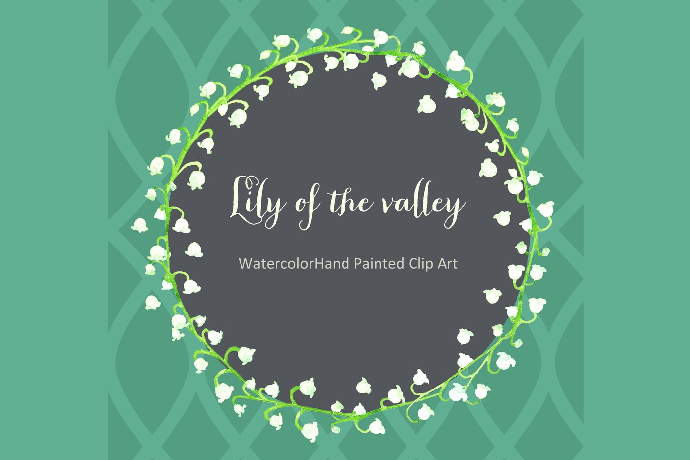 Lily Of The Valley clipart watercolor Watercolor LABFcreations Lily of the