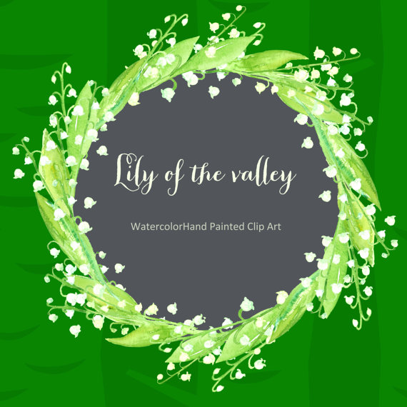 Lily Of The Valley clipart watercolor Watercolor art valley the LABFcreations