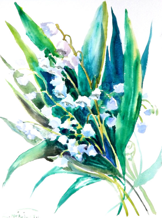 Lily Of The Valley clipart convallaria majalis Lilies watercolor X Valley watercolor