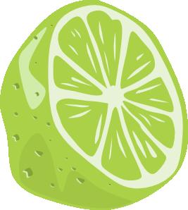 Lime clipart Half Clker royalty vector online