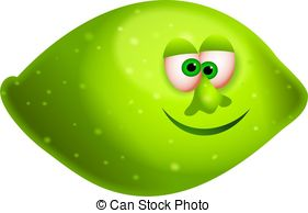 Lime clipart face 009 Illustrations illustration a