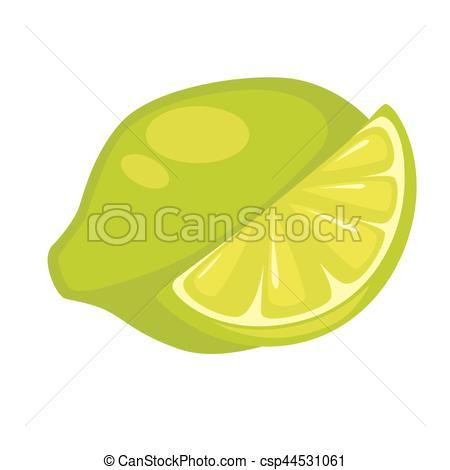 Lime clipart green lemon Lime Isolated Fruit Art White