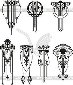 Line clipart art nouveau Art nouveau pattern pattern nouveau