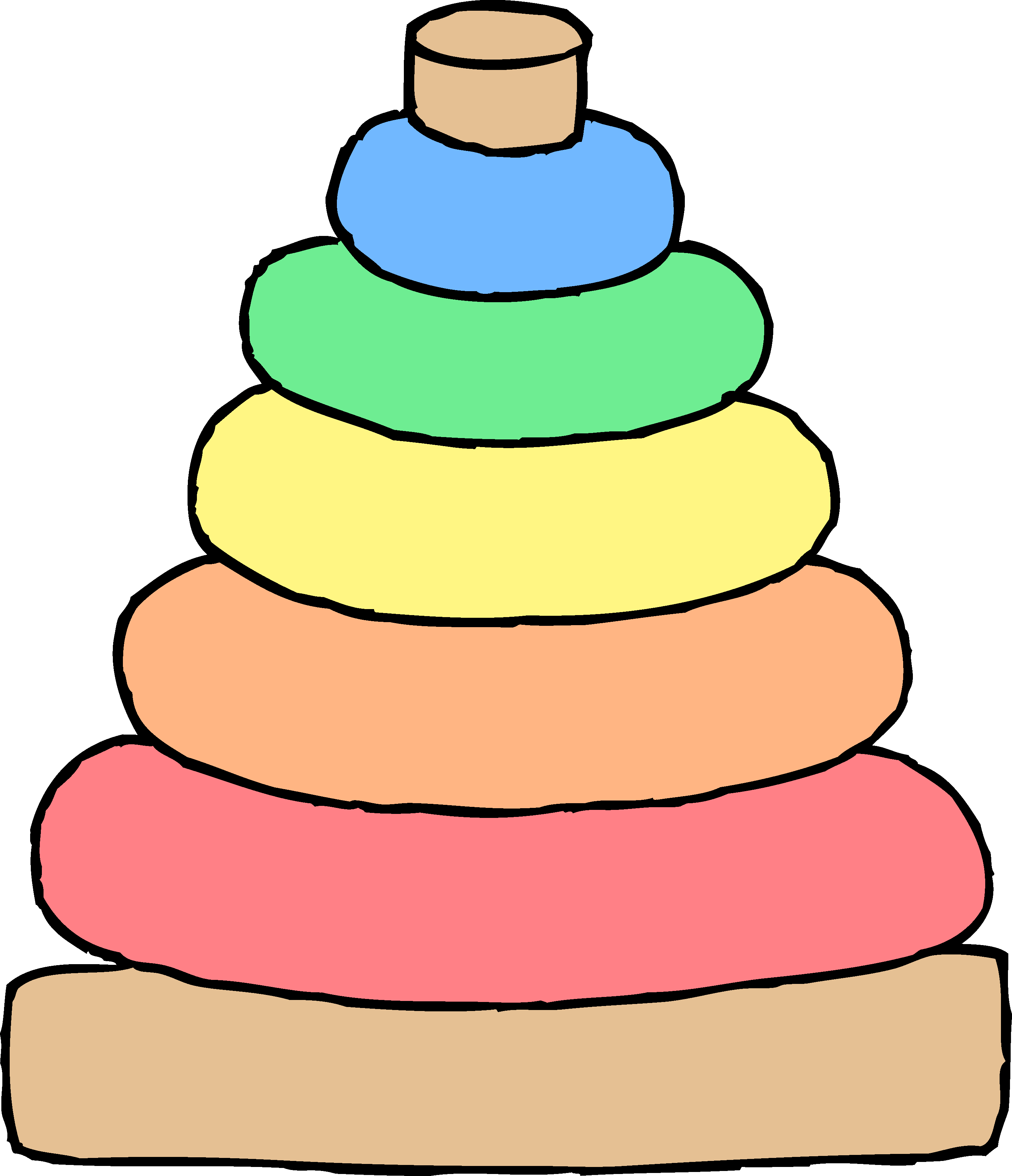 Ball clipart baby toy Toy Stacking Free Baby Art