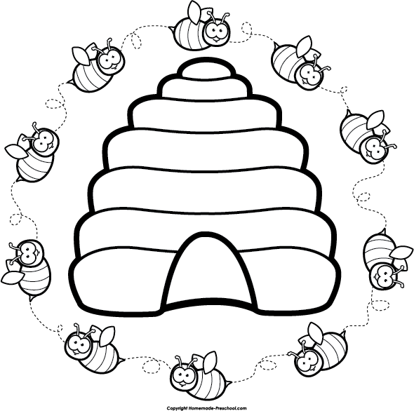 Bee clipart beehive Clip Clipart Beehive Art Clip