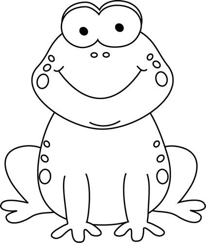 Black & White clipart frog Pdclipart clip images for teachers