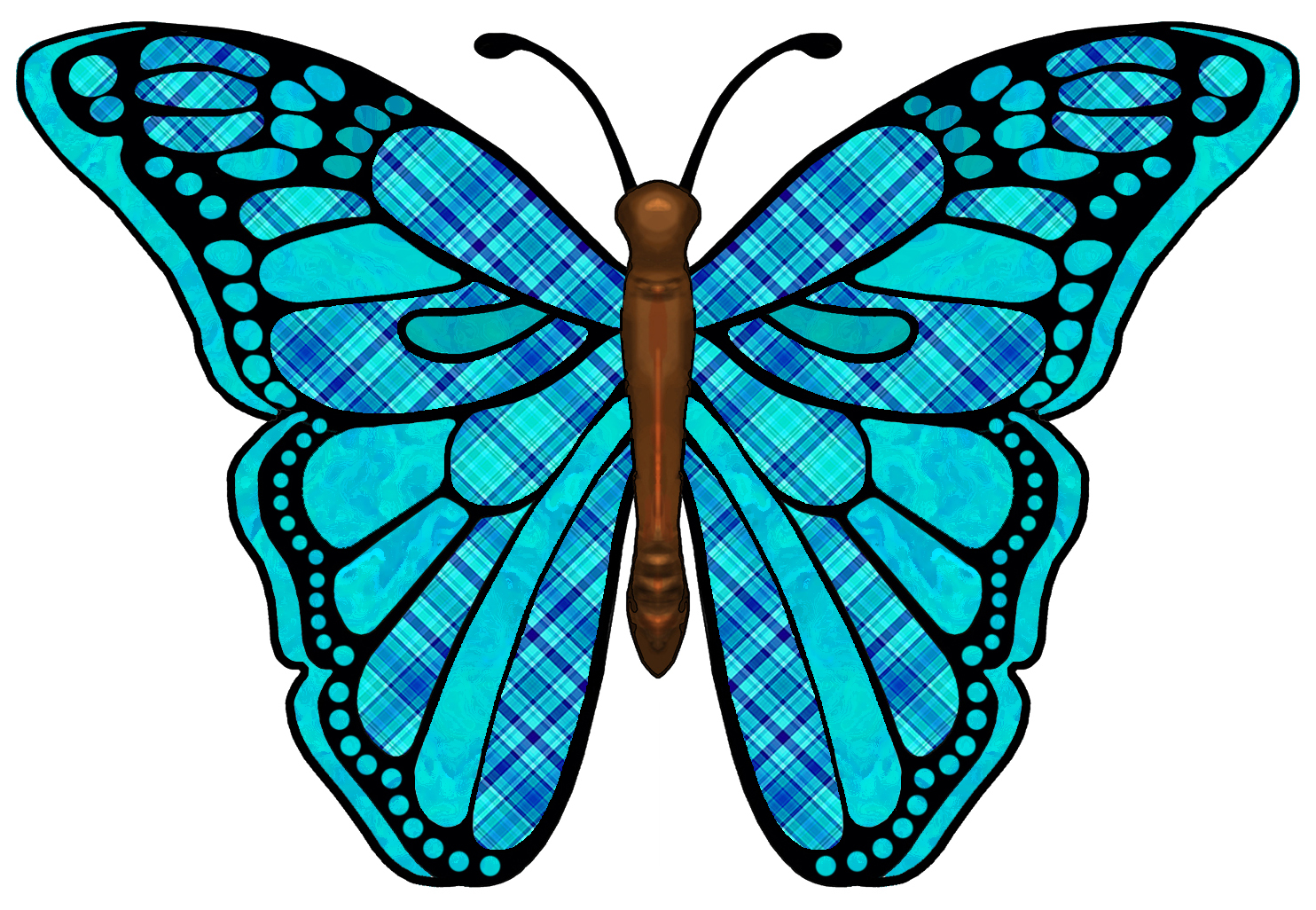 Colouful clipart butterfly wing #2
