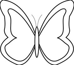 Line Art clipart butterfly And black Clipart Clipart Butterfly