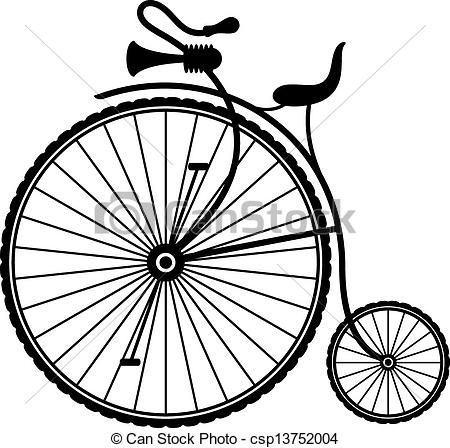 Bicycle clipart retro bike Vintage of Clipart of Vector