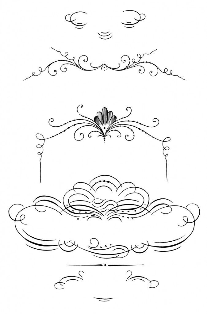 Calligraphy clipart decorative cross Images borders ornaments best frames