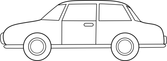 Line Art clipart car Line Art Clip Colorable Free