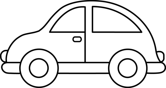 Line Art clipart car Cute Page Toy Coloring Car