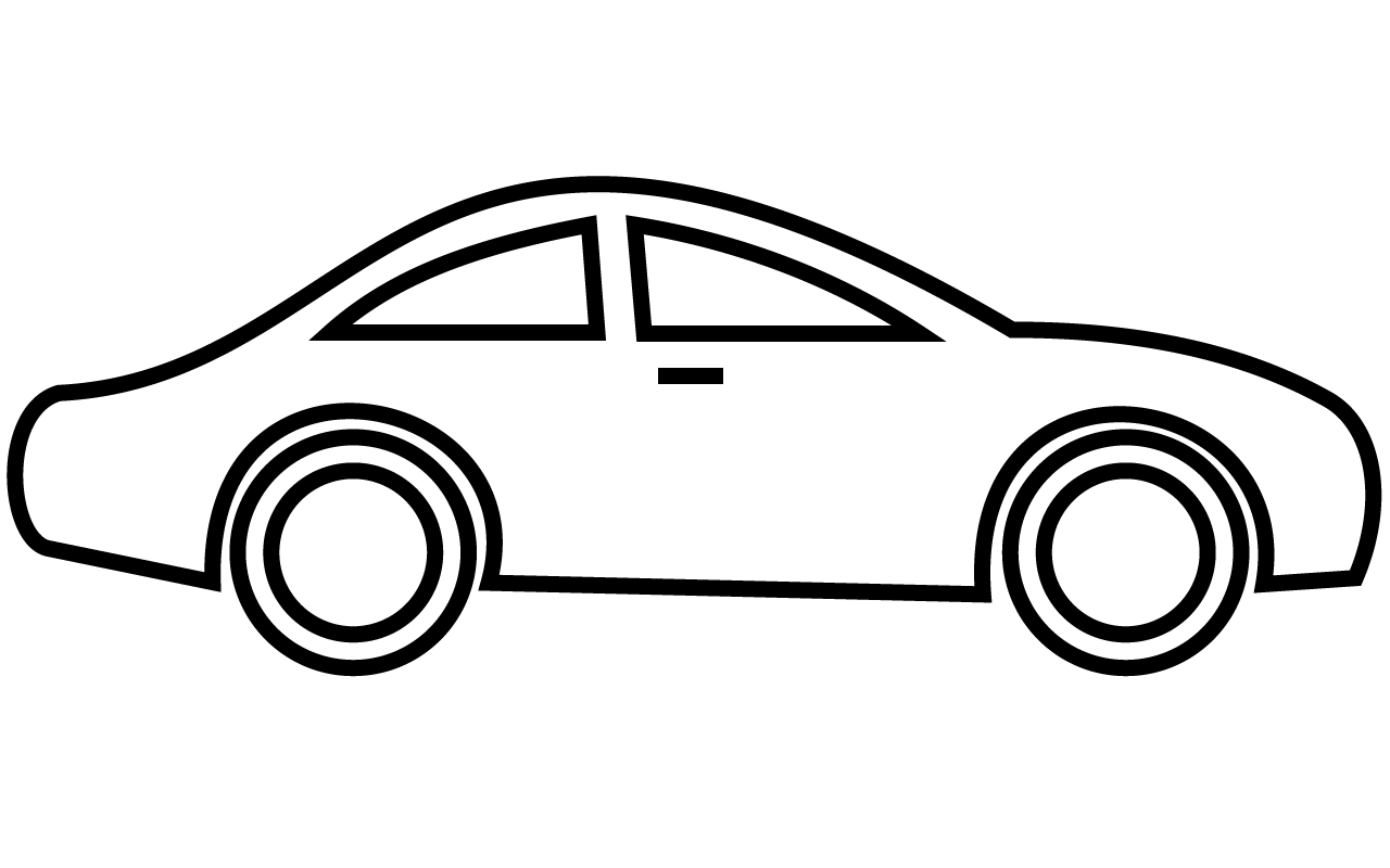 Line Art clipart car Free of 3 for Cartoon