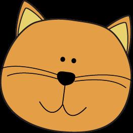 Orange clipart cat face Art Cat Cat Clip Images
