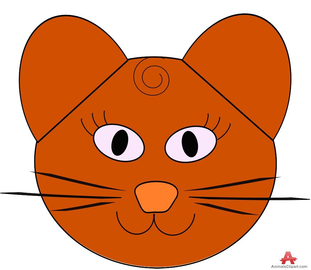 Line Art clipart cat head Clipart Brown Cat Head Cat