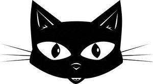 Line Art clipart cat head Cat cat clip art clip