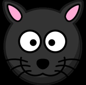 Line Art clipart cat head Art Black Black Cat