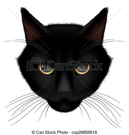 Line Art clipart cat head Of Vector csp26856618 Vector on