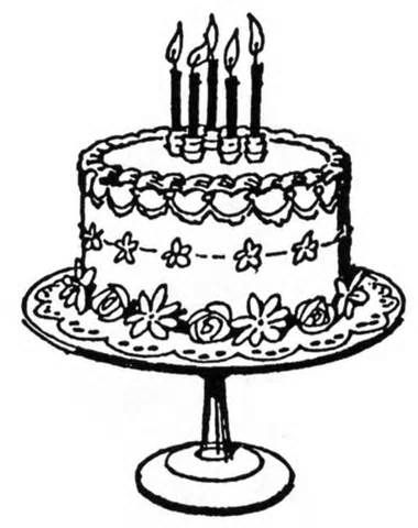 Victorian clipart cake Images of Birthday art art