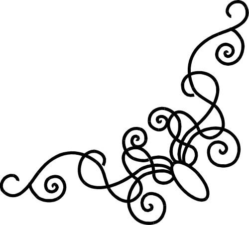 Curve clipart fancy corner Art corner Designs Corner Design