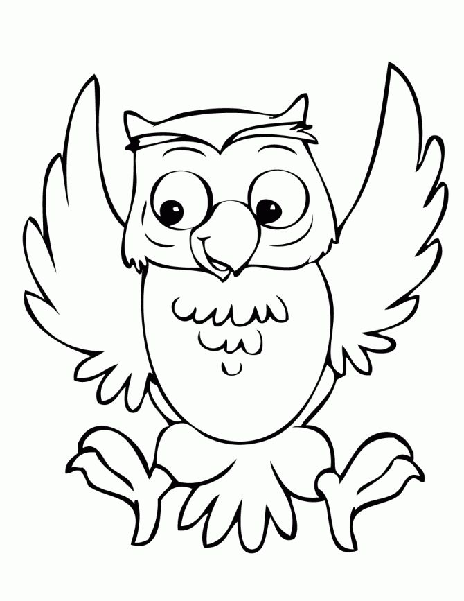 Color clipart owl Happy coloring Owl Page Best