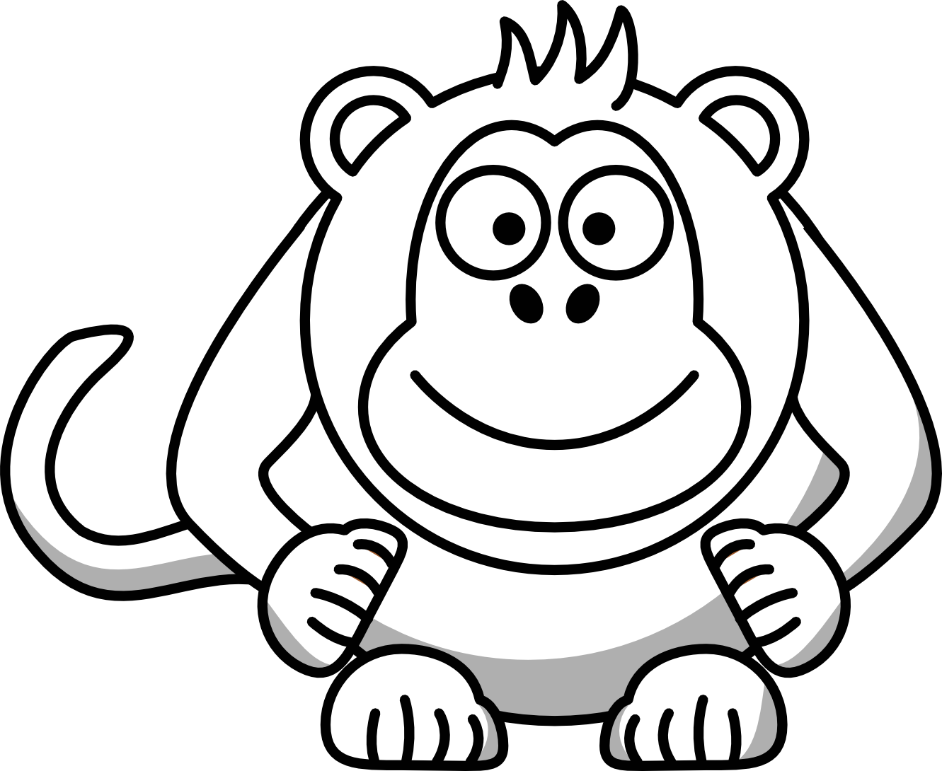 Baboon clipart black and white And Free Art Panda Images