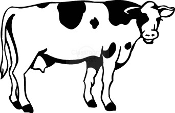 Cattle clipart black and white Free Art Clip Cartoon Images