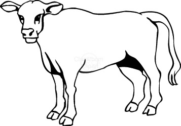 Cattle clipart black and white Images clip cow Clipartix clipart