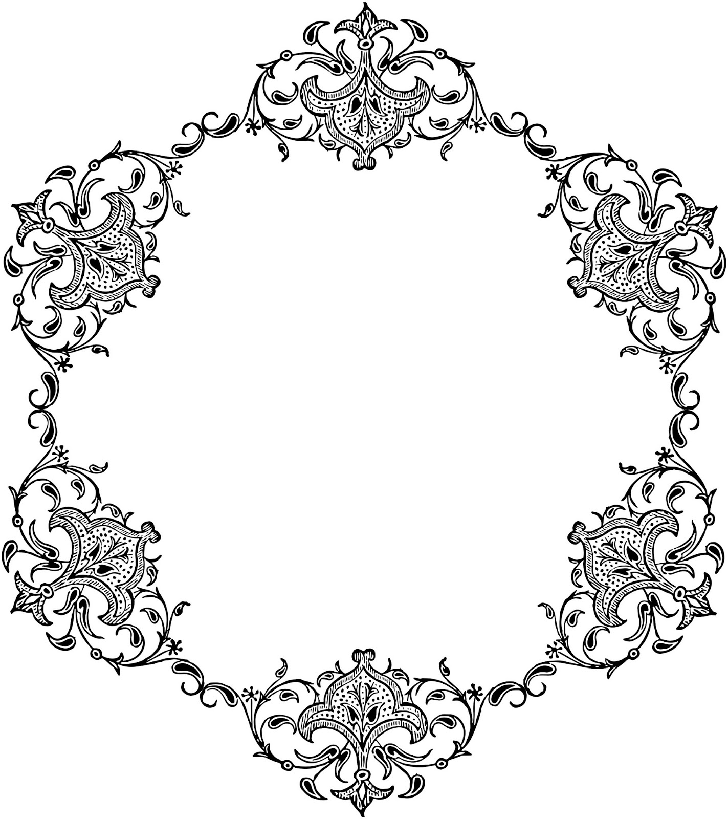 Circle clipart vintage Free Borders Vintage Images Clipart