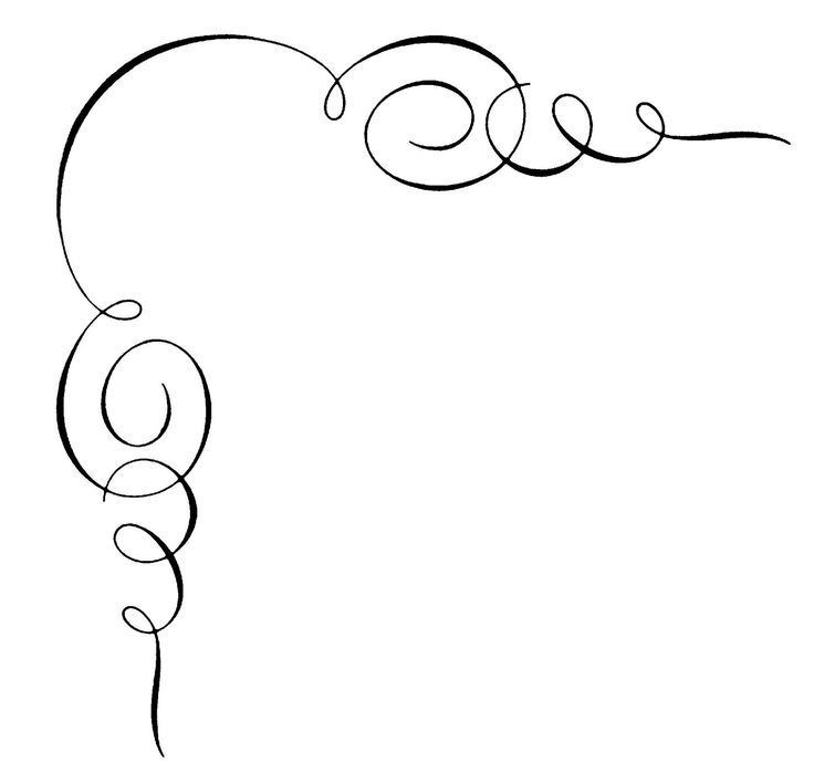 Calligraphy clipart corner Clip Art Pinterest ideas Free