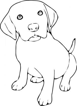 Line Art clipart dog Collection and clipart black black