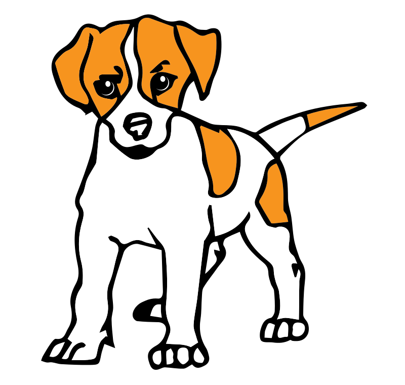 Realistic clipart puppy #1