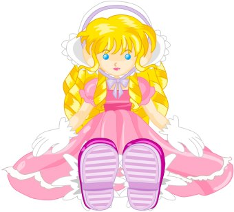 Doll clipart a pink Art clipart of Doll Image